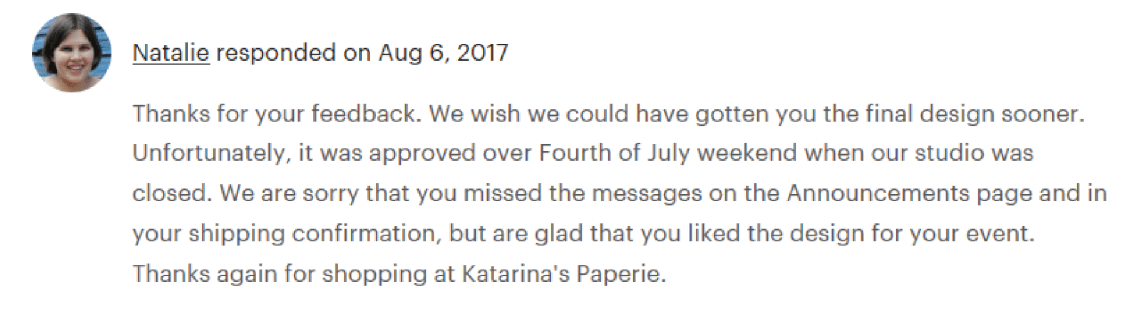 Response to review about communication
