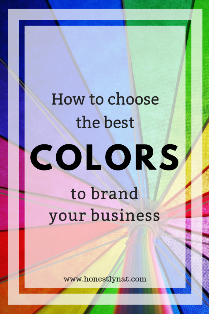 "Inside of a colorful tent looking upwards with the text overlay ""How to choose the best colors to brand your business"""