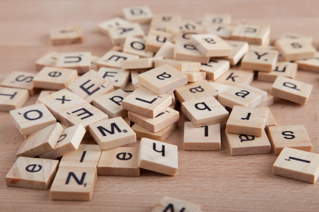 Pile of letter tiles