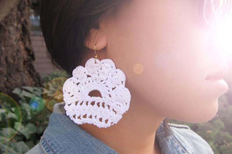 Honestly WTF Lace Earrings