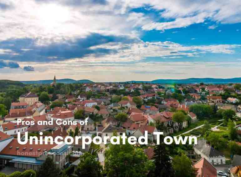 Pros and Cons of Unincorporated Town