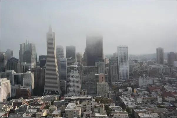 San Francisco - Ausblick aus dem Coit Tower