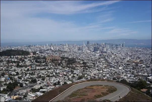 San Francisco - Ausblick von Twin Peaks