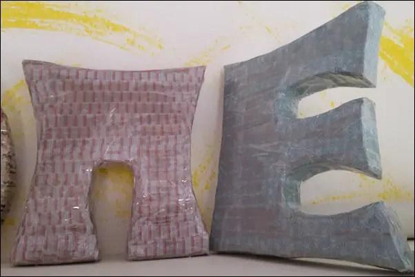 3d buchstaben basteln aus pappe und washi tape honey lifestyleblog. Black Bedroom Furniture Sets. Home Design Ideas