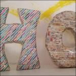 3D Buchstaben basteln aus Pappe und Washi Tape