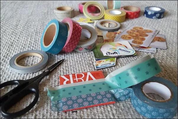 Ideen mit Washi Tape - Magnete mit Washi Tape bekleben