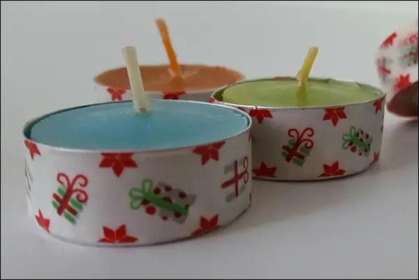 Teelichter bekleben - Ideen mit Washi Tape