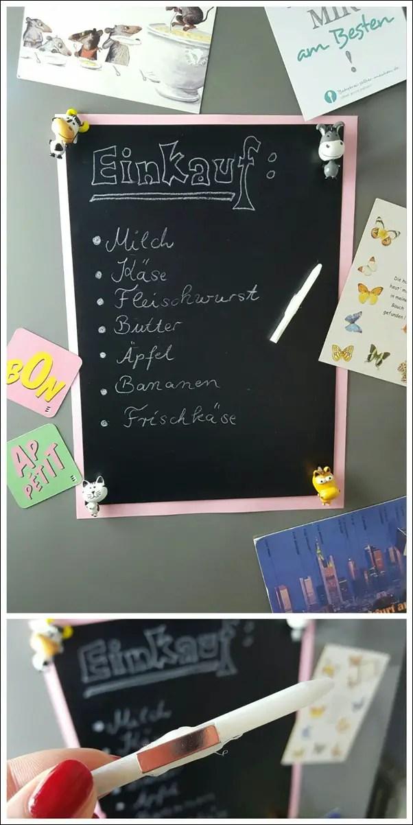 Einkaufsliste mit Tafelfolie