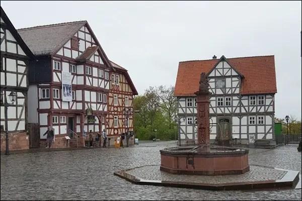 Marktplatz im Hessenpark im Taunus