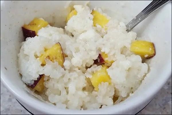 So einfach und lecker! Lowcarb Milchreis Vanille mit Pfirsichen und Zimt