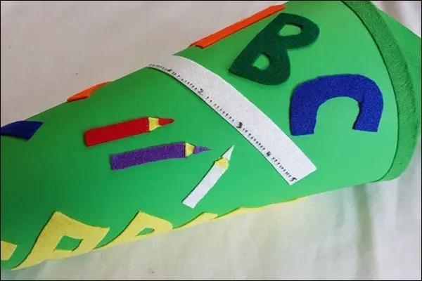 ABC Schultüte aus Bastelfilz