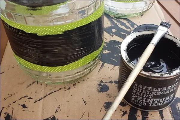 Vorratsgläser basteln - Gurkengläser recyceln