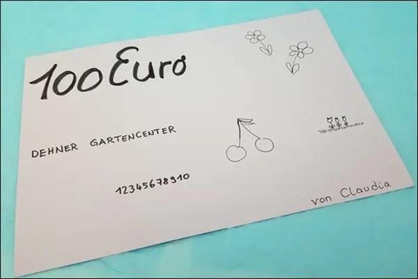 Gutscheine schöner verschenken als Handlettering Karte