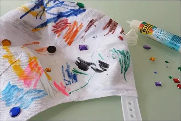 Kappen bemalen - Idee für Kindergeburtstag