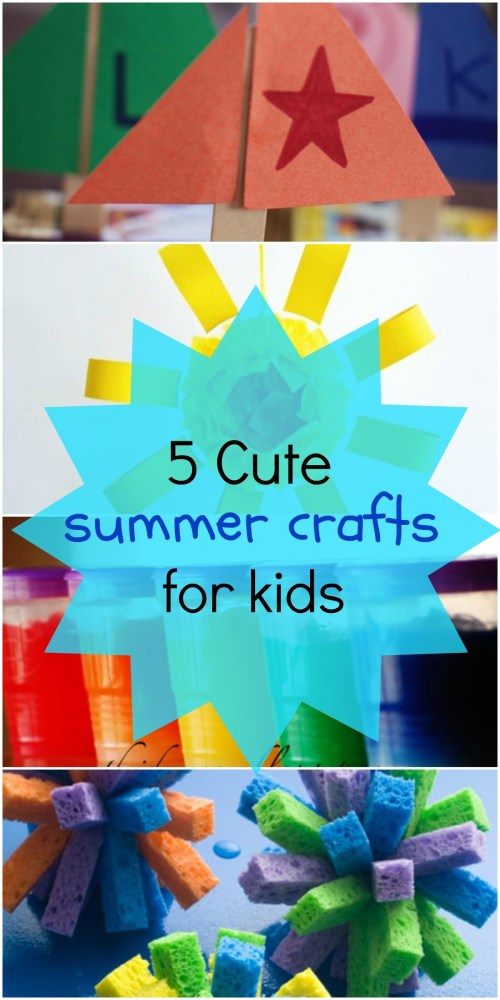 5 cute summer crafts for kids - these art projects are perfect for some summer fun!