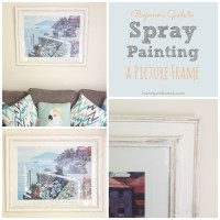 Beginner's Guide to Spray Painting a Picture Frame