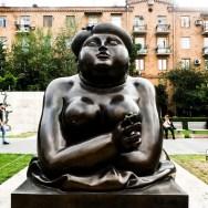 Profile woman statue Cascade Yerevan