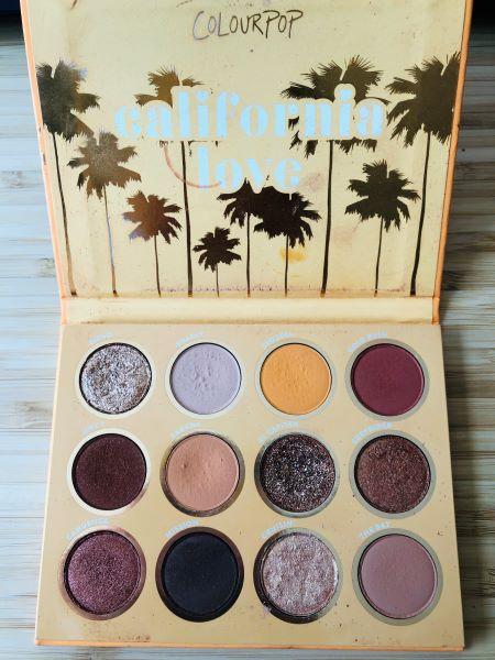 california love colourpop palette