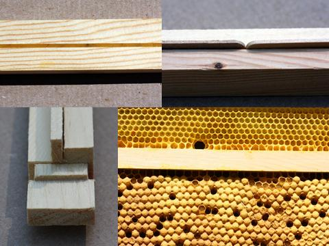 Clockwise: Beeswax In A Top Bar, Popsicle Sticks Forming A Ridge, A Drone  Trap With No Foundation In Lower Portion, A Wedge Turned Sideways Forming A  Ridge.