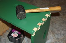 7. Tap the joints until they lock together.