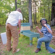 Newly installed nuc and bee buddy by Kerry Britt.