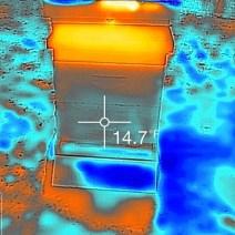 Flir image of February hive Jenny McComb