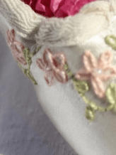embroidered custom bridal shoes