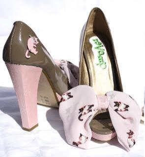 bow customised bridal shoes