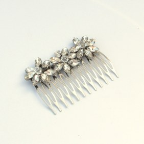 Floral crystal bridal hair comb - Aria