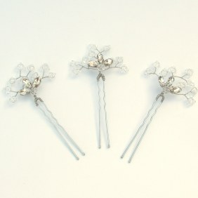 Crystal bridal hair pins - Azalea