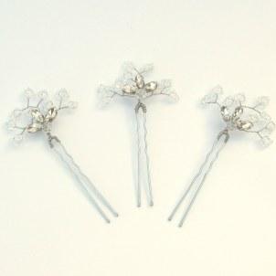 Crystal bridal hair pins - Azalea
