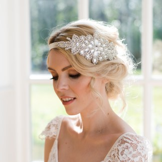Crystal art deco bridal hair piece - Sophia