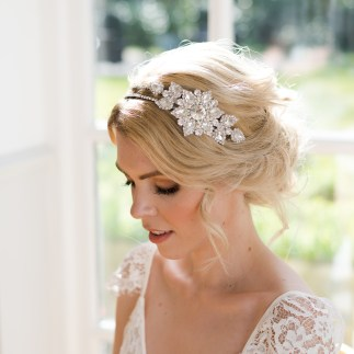 Vintage crystal wedding hairband - Faith