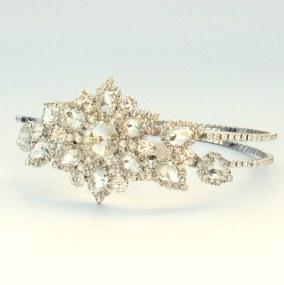 Vintage crystal bridal hairband - Faith