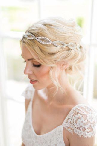 Crystal bridal hair vine - Seraphina