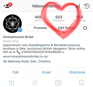 Wedding shop news Instagram