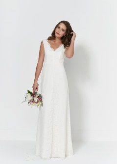 So Sassi Bianca lace wedding gown