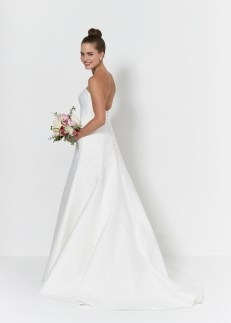 So Sassi Ebony strapless bridal dress
