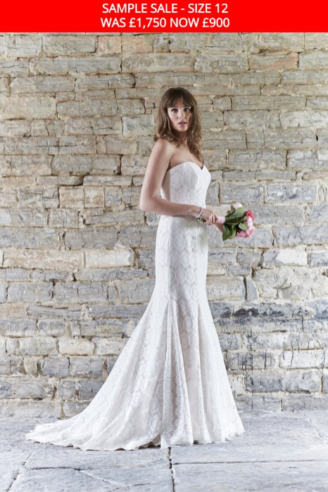 So Sassi Nadine lace wedding dress sample sale
