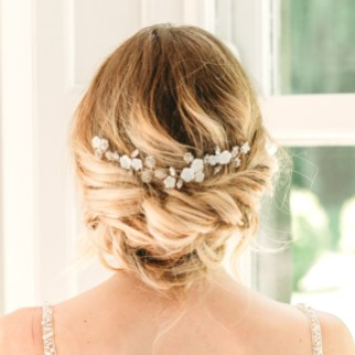 Mother of pearl bridal hair slide - Alessandra