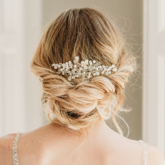Pearl and Swarovski crystal bridal hair comb - Madelyn