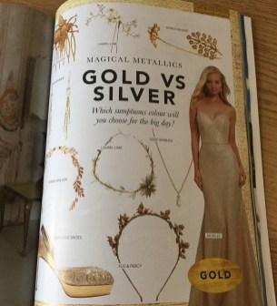 Bridal magazine wedding accessories feature