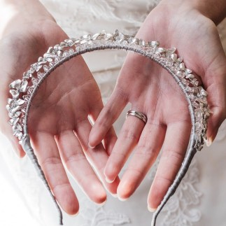 Double halo bridal crown - Indira