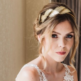 Leaf detail wedding hairband- Maia