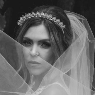 Swarovski crystal bridal crown - Levana