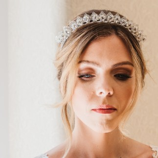 Swarovski crystal bridal crown- Levana