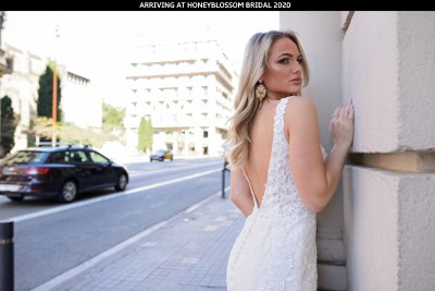 Catherine Parry Aurelia wedding dress arriving soon to Honeyblossom Bridal boutique