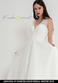 Freda Bennet Florence wedding dress arriving soon to Honeyblossom Bridal boutique