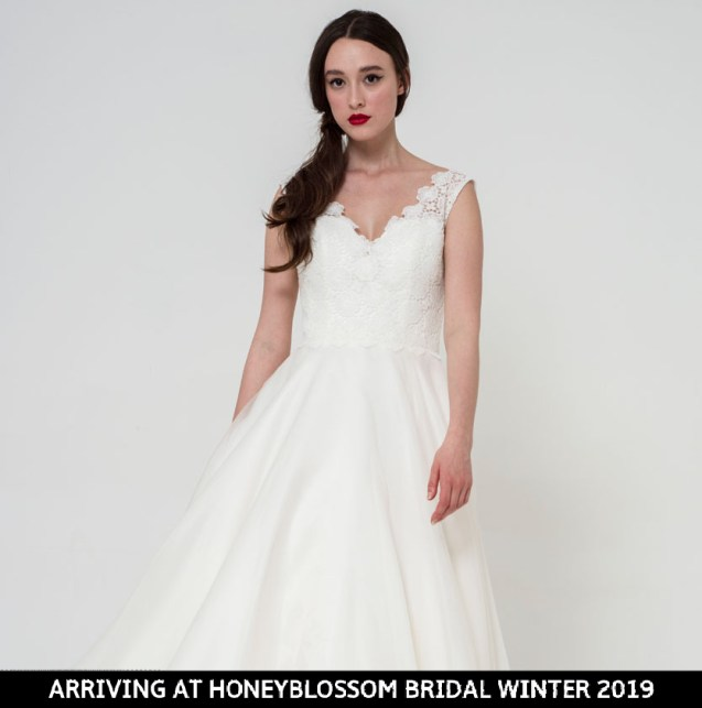 Freda Bennet Freya wedding dress arriving soon to Honeyblossom Bridal
