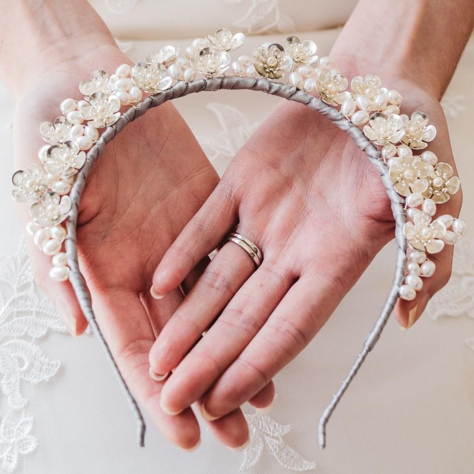 Floral-and-pearl-bridal-crown-Rhea-1
